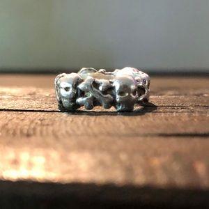 Skull & Crossbones Sterling Silver Ring